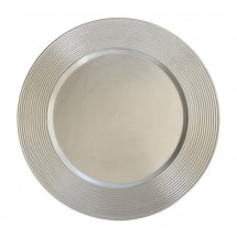 """The Jay Companies 1183067 Round Silver Saturn Charger Plate 13"""""""
