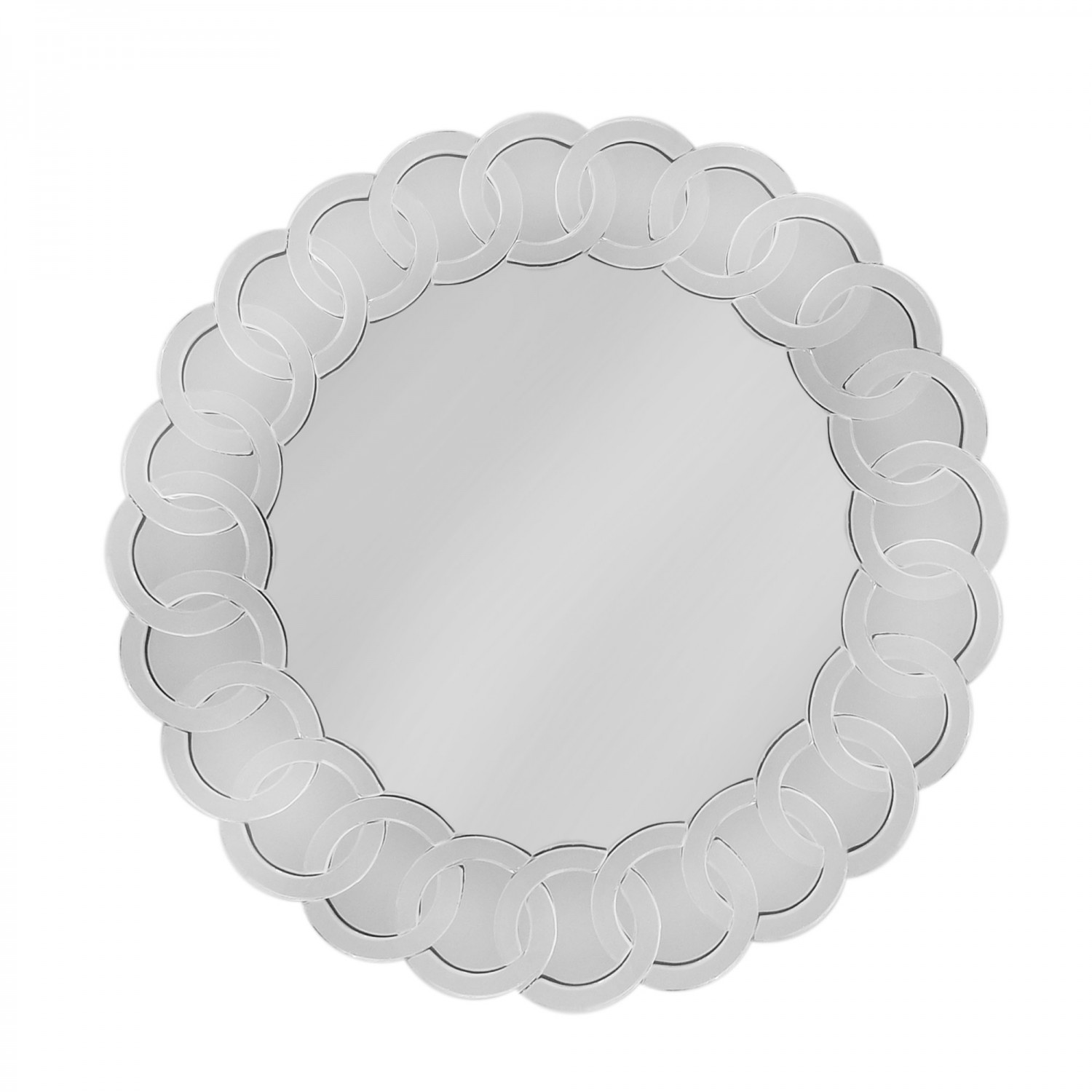 "Scroll Mirror Charger Plate 14""D"