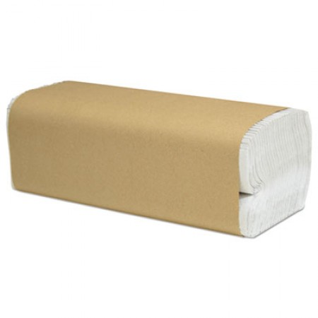 Select Folded Paper Towels, C-Fold, White, 10 x 13, 200/Pack, 12/Carton