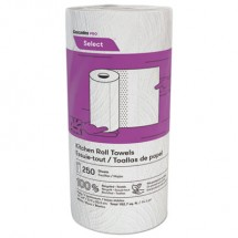 Select Kitchen Roll Towels, 2-Ply, 8 x 11, 250/Roll, 12/Carton