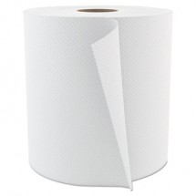 """Select Roll Paper Towels, 1-Ply, 7.875"""" x 800 ft, White, 6/Carton"""