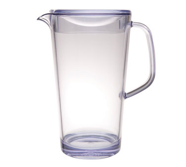 Service Ideas 10-00403-000 Clear Pitcher With Lid, 1.9 Liter