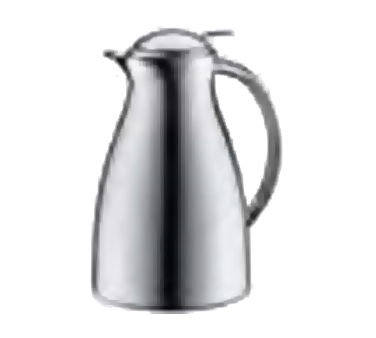 Service Ideas 3542000065 Chrome Exterior Coffee Server With Push Button Lid, 0.6 Liter