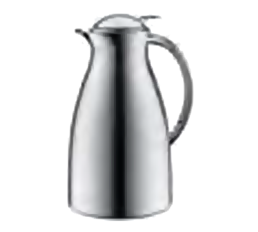 Service Ideas 3542000100 Chrome Exterior Coffee Server With Push-Button Lid, 1 Liter