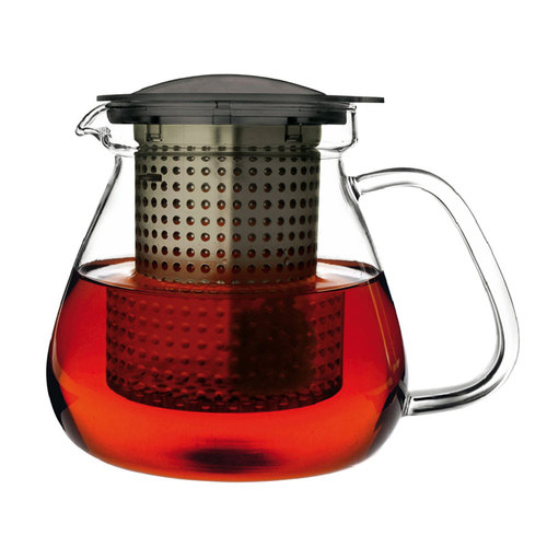 Service Ideas 4287010 Finum Glass Tea Control Pot, 1 Liter