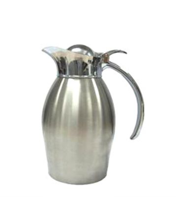 Service Ideas 98110BS Brushed Stainless Steel Carafe, 34 oz.