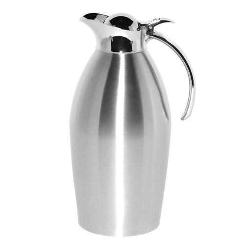 Service Ideas 98115BS Brushed Stainless Steel Carafe, 51 oz.