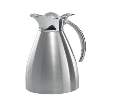 Service Ideas 98210BS 982 Series Brushed Stainless Steel Server, 1 Liter