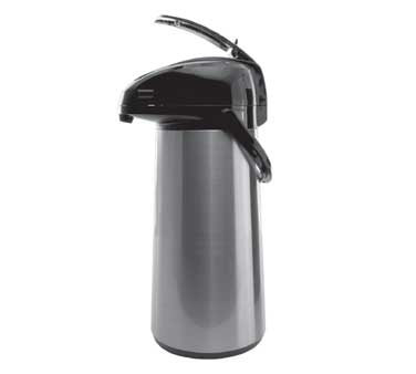 Service Ideas AELS228 Glass Lined Stainless Steel Airpot with Lever, 2.2 Liter