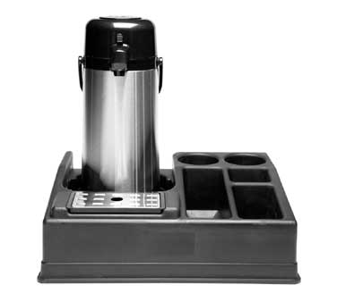 Service Ideas APLR15BL Airpot Stand with 5 Compartments
