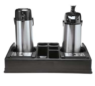 Service Ideas APLR25BL Dual Airpot Station with 5 Compartments