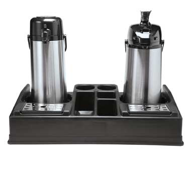 Service Ideas APLR25BL Double Airpot Stand with 5 Compartments