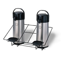 Service Ideas APR2BLC Black Wire Double Airpot Rack