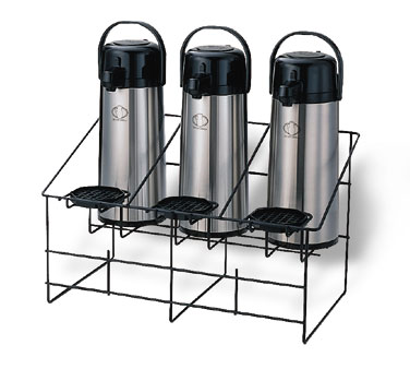 Service Ideas APR3BLC Black Wire Triple Airpot Rack