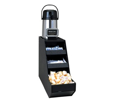 Service Ideas APS1CBL Airpot Stand with Condiment Trays, Black