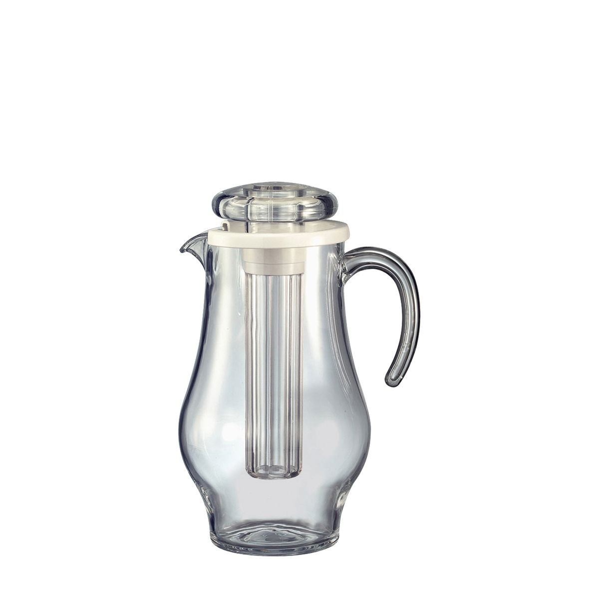 Service Ideas AWP24BS Bell Shape Acrylic Ice Tube Pitcher 2.4 Liter