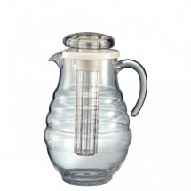 Service Ideas AWP33RB Ribbed Body Acrylic Pitcher, 3.3 Liter