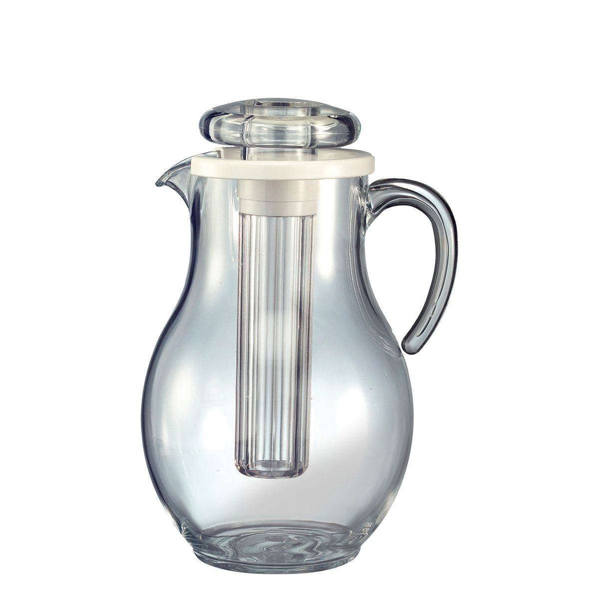 Service Ideas AWP33SB Acrylic Smooth Body Ice Tube Pitcher, 3.3 Liter