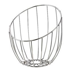 "Service Ideas BKTA Stainless Steel Tall Bread Basket 10"" x 11"" x 12"""