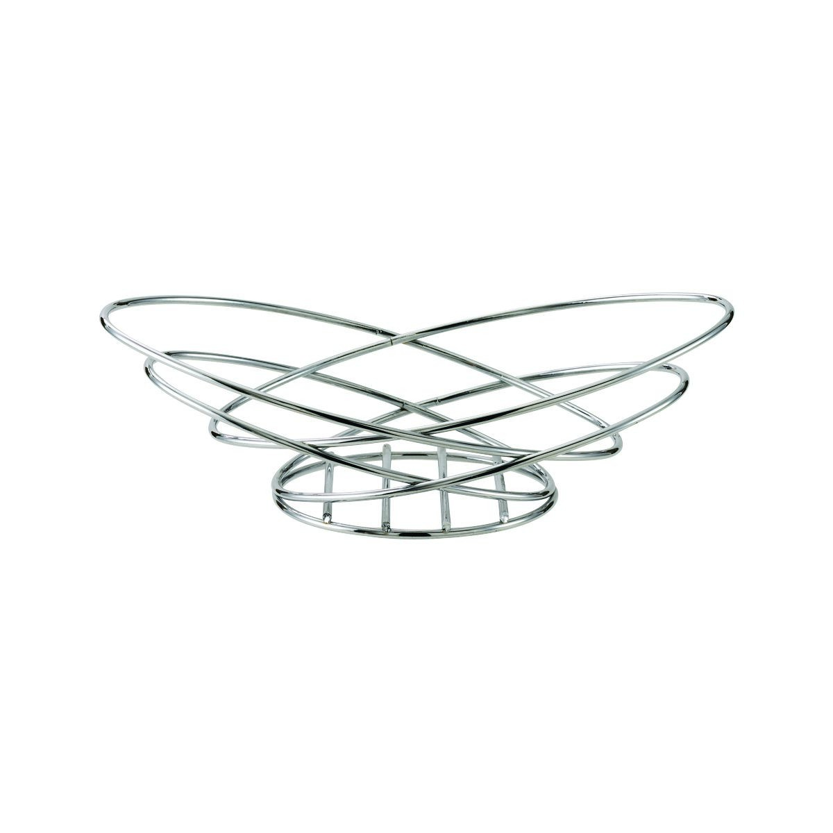 Service Ideas BKWI Polished Stainless Steel Oval Wire Basket