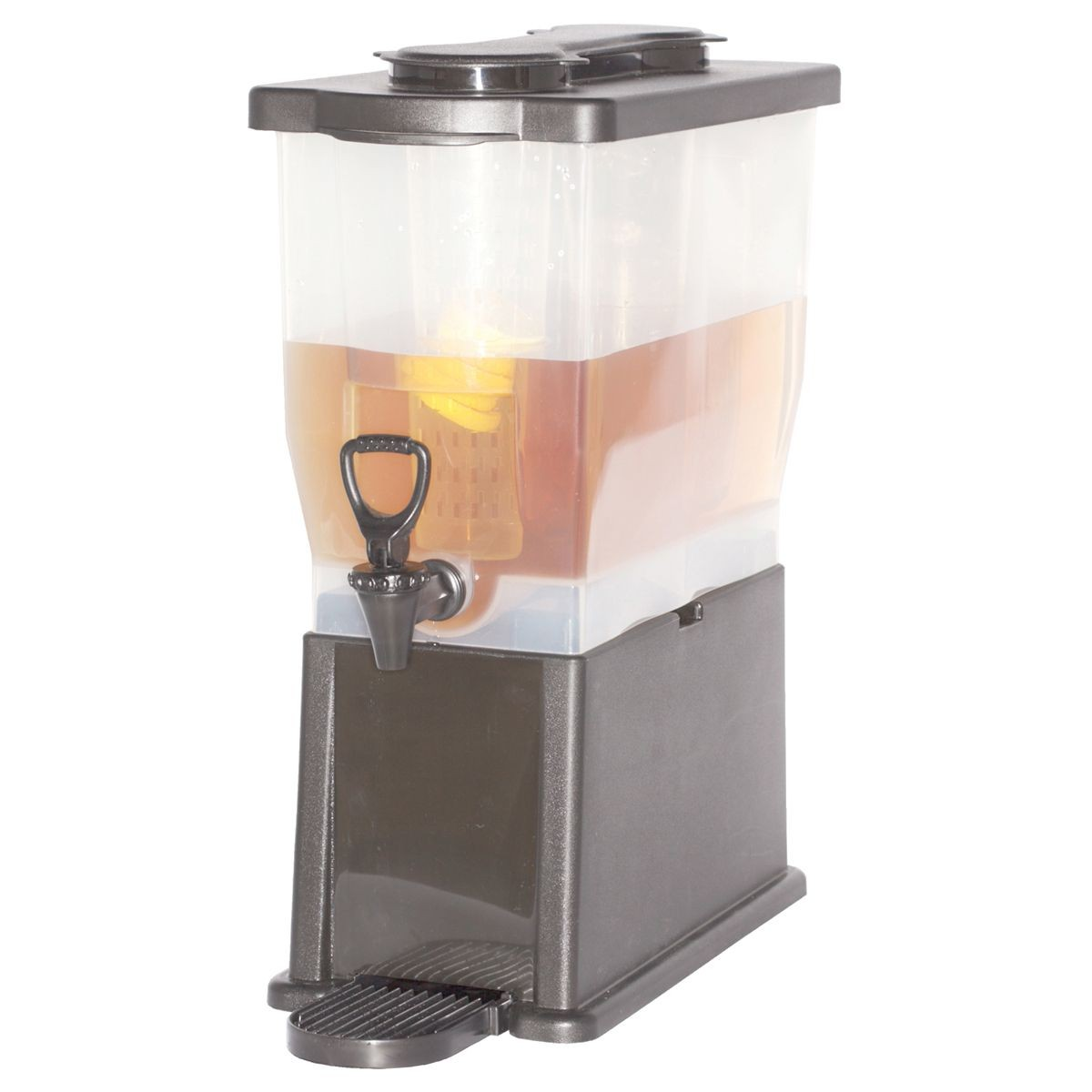 Service Ideas CBDP3BLK Rectangular Beverage Dispenser, 3 Gallon