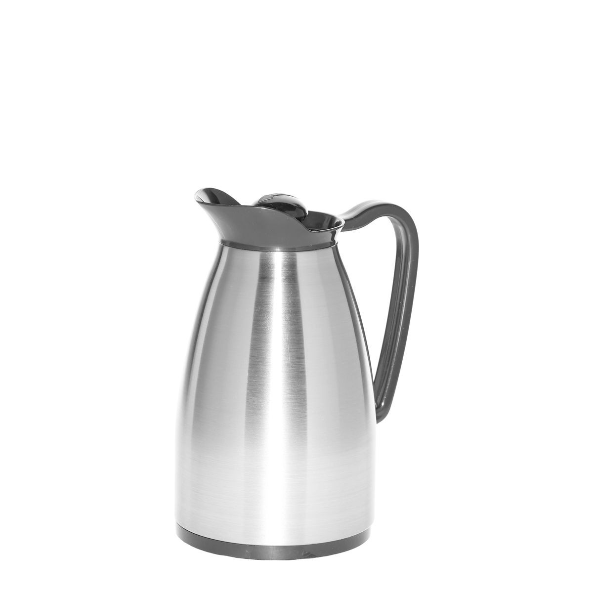 Service Ideas CGC060SS Brushed Stainless Classic Glass Carafe, .6 Liter