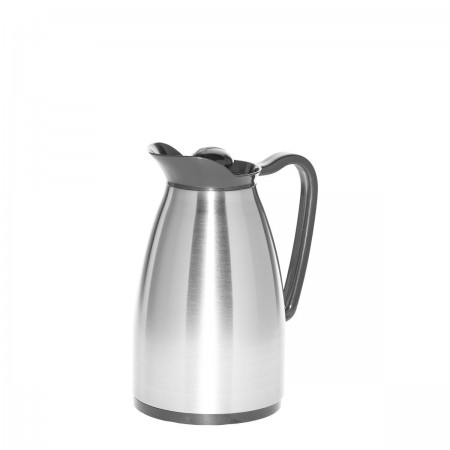 Service Ideas CGC060SS Stainless Classic Glass Insulated Carafe, 0.6 Liter