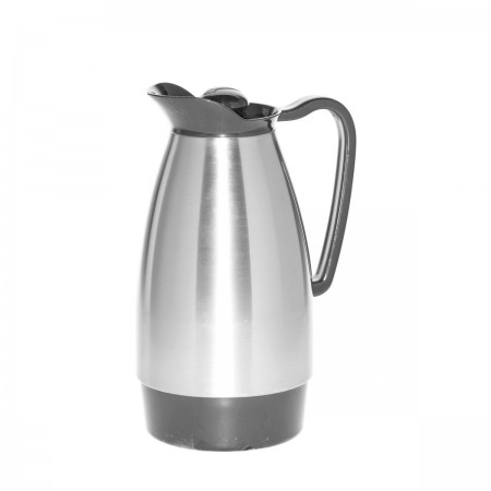 Service Ideas CGC101SS Stainless Classic Glass Insulated Carafe, 1 Liter
