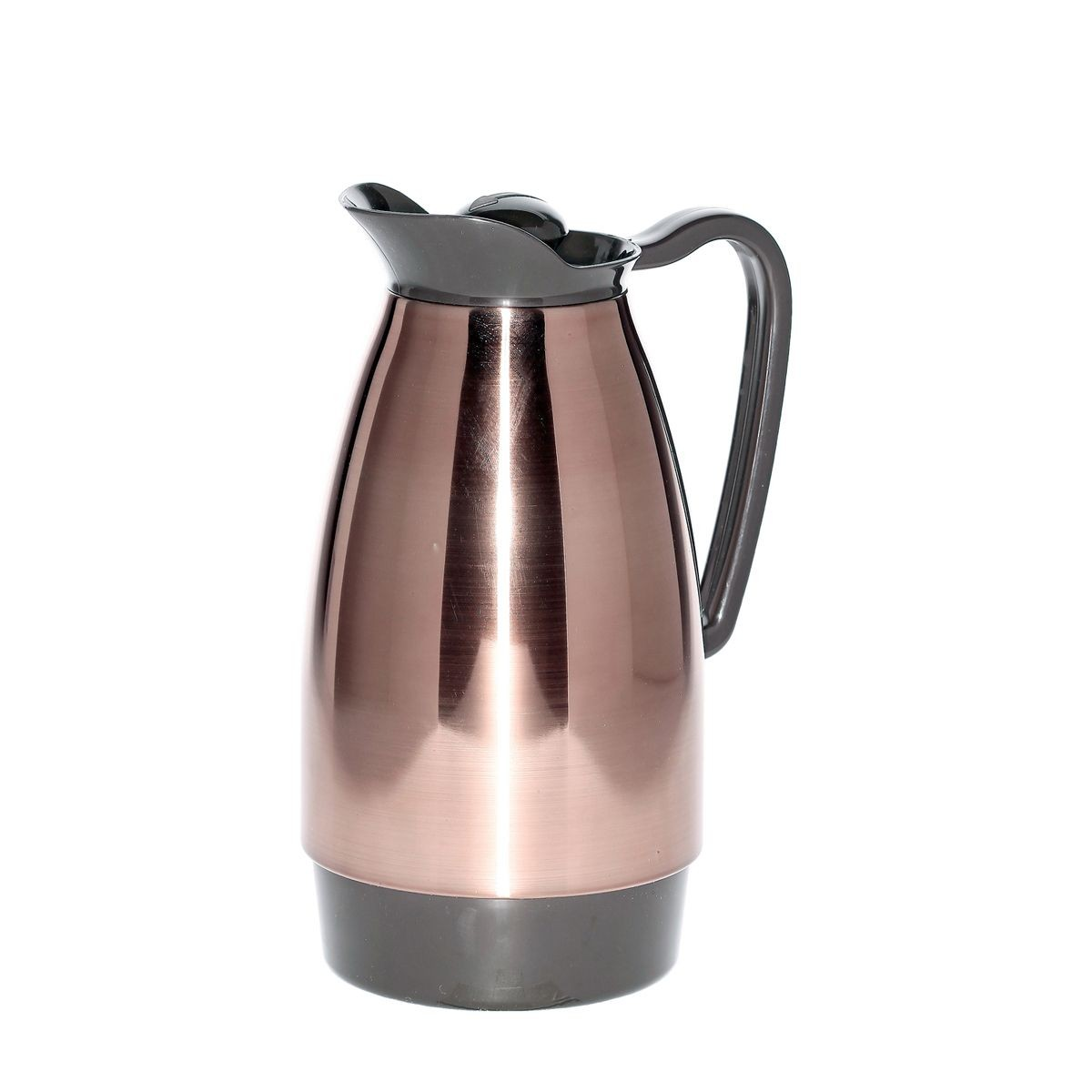 Service Ideas CGCS10CP Classic Stainless Carafe, Copper with Brown 1 Liter