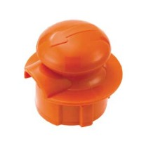 Service Ideas CGSTOPOR Orange Stopper Lid for Classic Glass Carafe