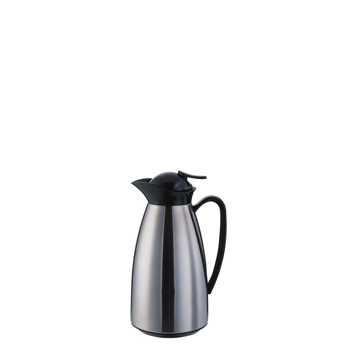 Service Ideas CJ10SS Classy Vacuum Carafe, Brushed Stainless with Black 1 Liter