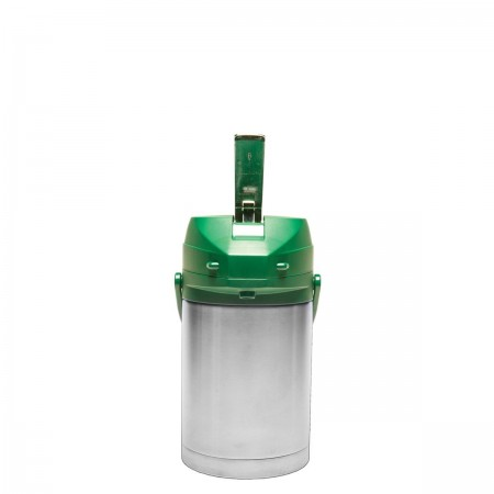 Service Ideas CTAL22GRN Stainless Steel Lined Airpot with Lever, Green Top 2.2 Liter