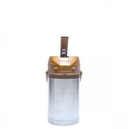 Service Ideas CTAL25BR Stainless Steel Lined Airpot with Lever, Brown Top, 2.5 Liter