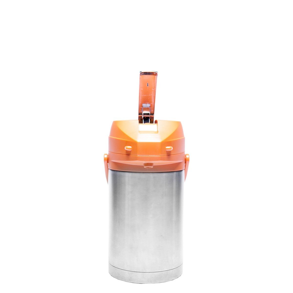 Service Ideas CTAL25OR Orange Top Stainless Steel Lined Color Me SVAC Airpot, 2.5 Liter