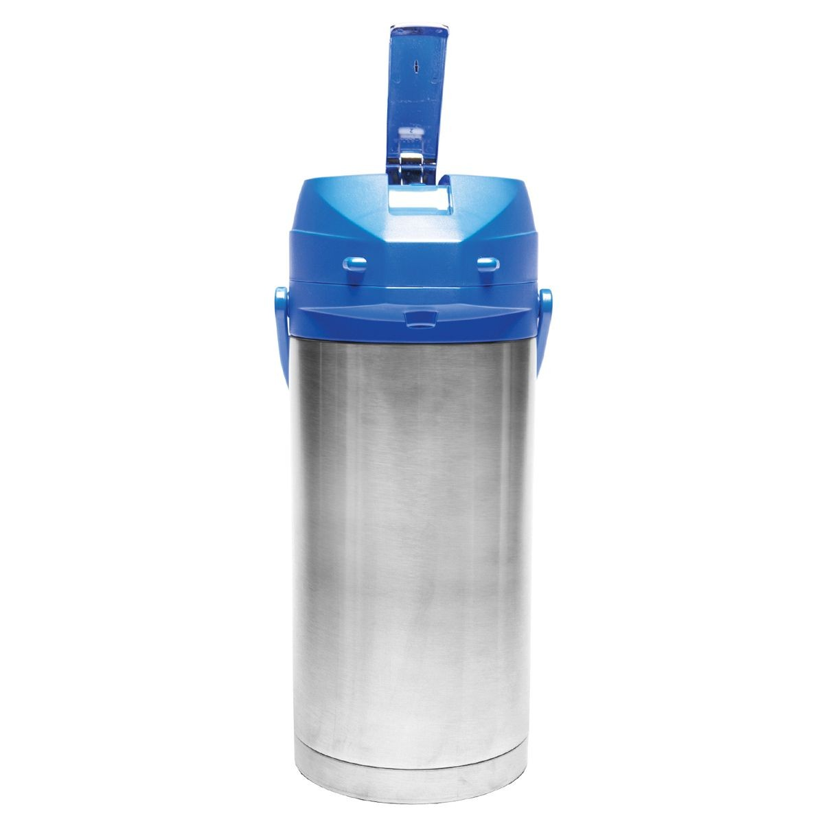Service Ideas CTAL37BLU Blue Top Stainless Steel Lined Color Me SVAC Airpot, 3.7 Liter
