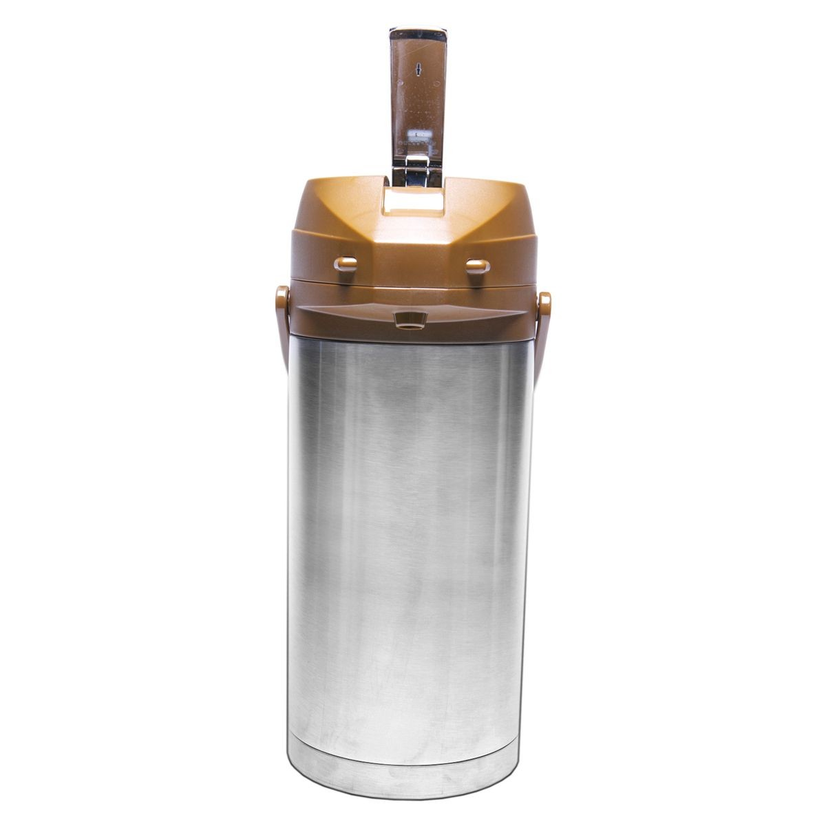 Service Ideas CTAL37BR Brown Top Stainless Steel Lined Color Me SVAC Airpot, 3.7 Liter
