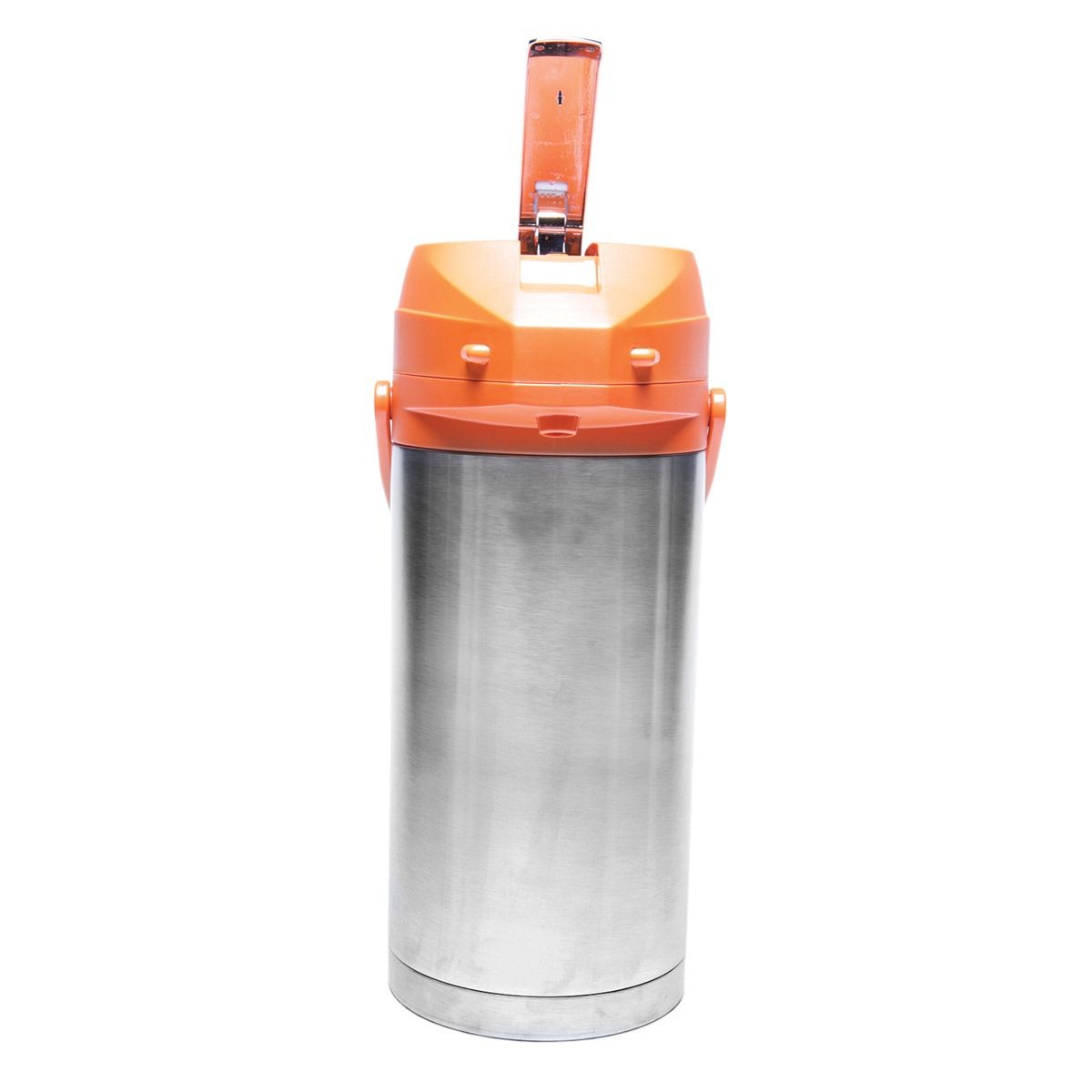 Service Ideas CTAL37OR Orange Top Stainless Steel Lined Color Me SVAC Airpot, 3.7 Liter