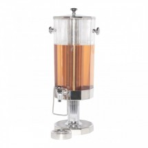 Service Ideas DDC11SSPS Polished Stainless Steel Accented Beverage Dispenser, 11 Liter