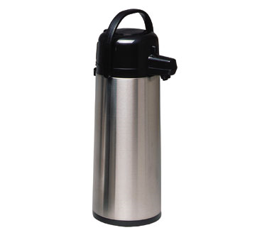 Service Ideas ECA25S Eco Air Stainless Steel Smooth Body Airpot, 2.5 Liter