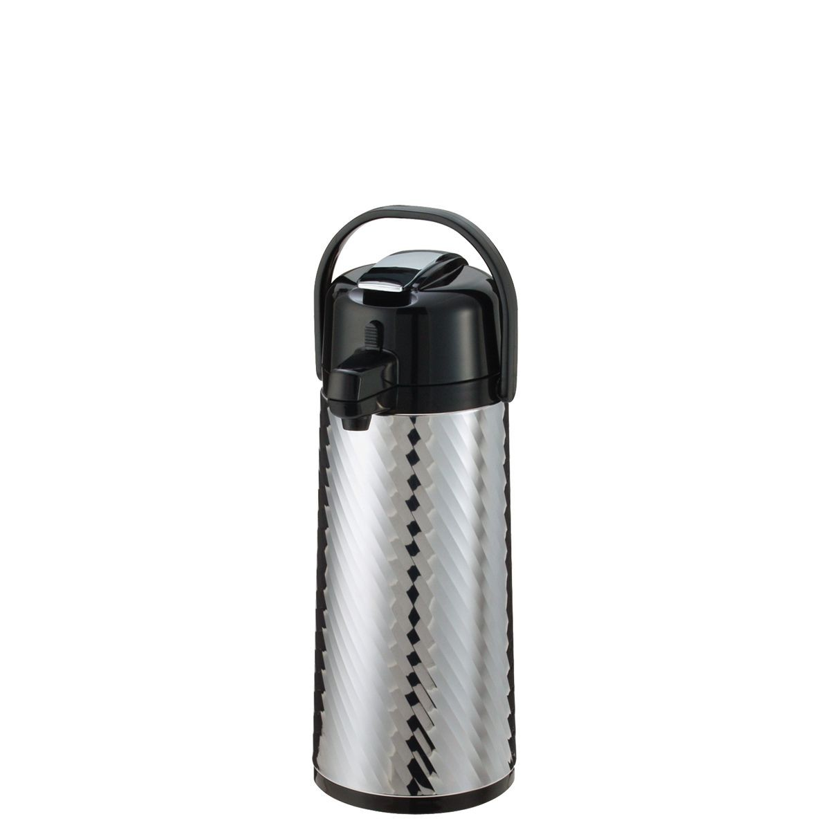 Service Ideas ECAJLS22S Eco Air Jewel Shell Insulated Stainless-Lined Airpot, 2.4 Liter