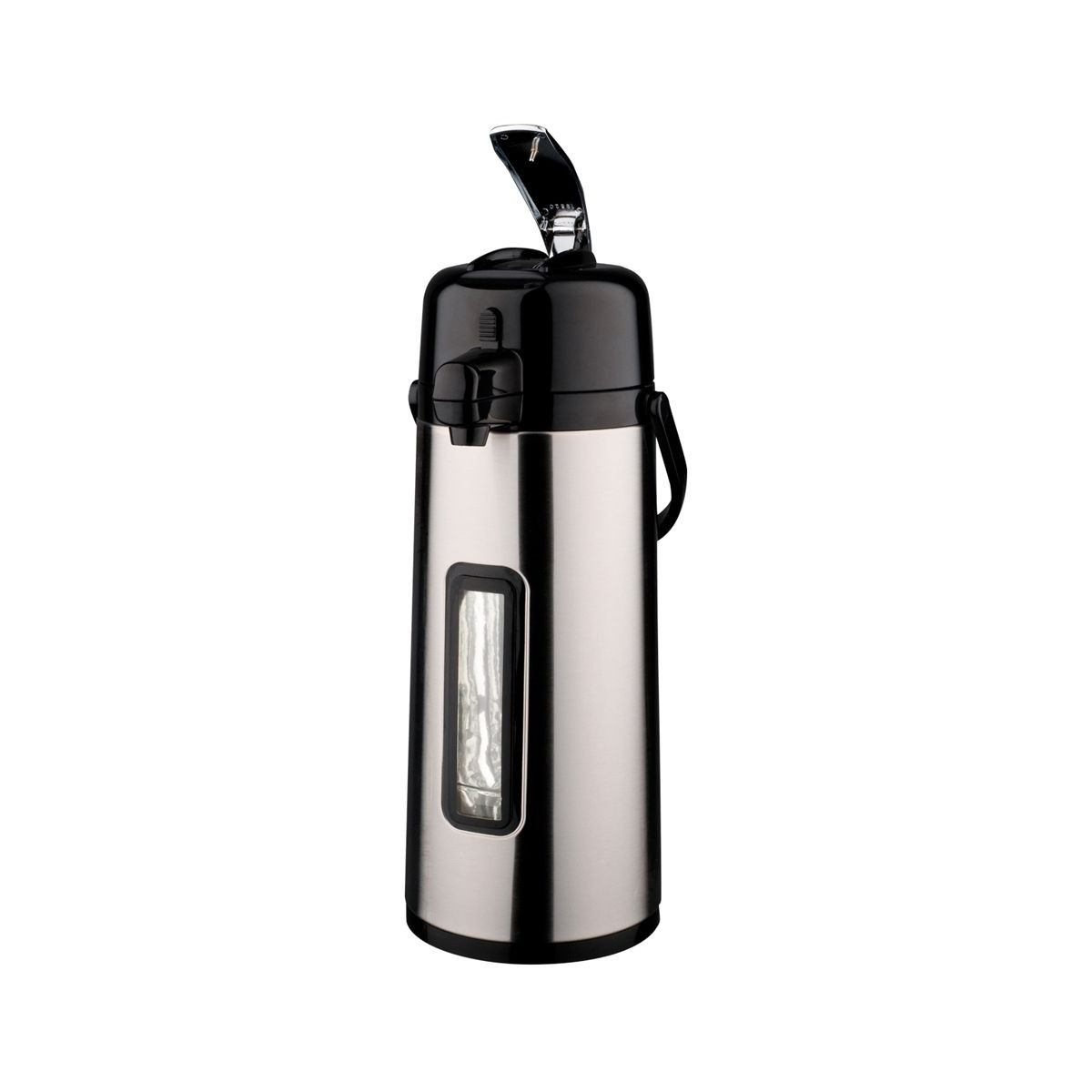Service Ideas ECAL22SG Eco-Air Glass-Lined Airpot with Sight Glass 2.2 Liter