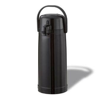 Service Ideas ECAS22PBLK Eco-Air Black Airpot with Interchangeable Pump Lid, 2.4 Liter