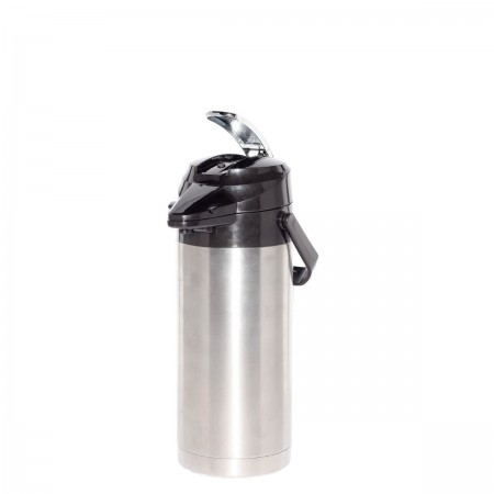 Service Ideas ENALS30S Signa-Air Stainless Lined Airpot Lever Lid 3 Liter