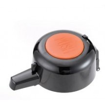 Service Ideas EPLOR Pump Replacement Lid for Eco-Air and SECA-Air, Black with Orange Decaf Inset