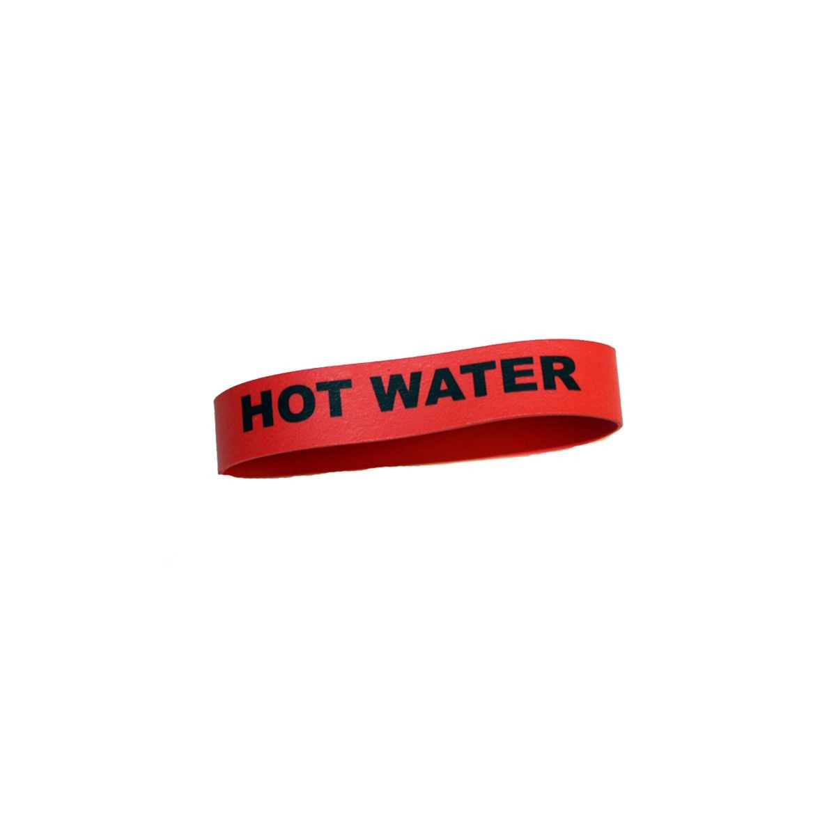 """Service Ideas FBHOTWATER Flavorband Label """" Hot Water"""""""