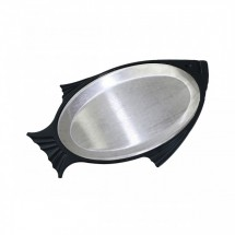 Service Ideas FP1BLAC Thermo-Plate Fish Platter Set