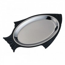 Service Ideas FP3BLC Thermo-Plate Fish Platter Set