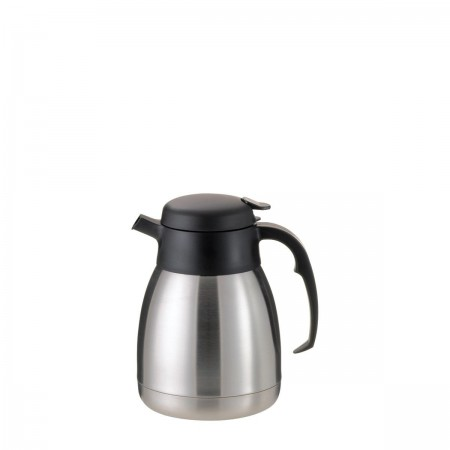 Service Ideas FVPC12 SteelVac Essential Carafe, Brushed with Black 1.2 Liter