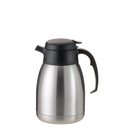 Service Ideas FVPC15 SteelVac Essential Carafe, Brushed with Black 1.5 Liter