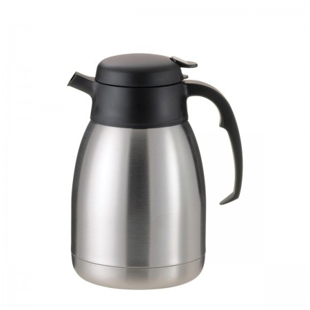 Service Ideas FVPC20 SteelVac Essential Carafe, Brushed with Black 2 Liter